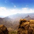Gran canaria La culata view from Roque Nublo Royalty Free Stock Photo
