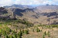 Gran canaria mountain landscape view from roque nublo peak Stock Images