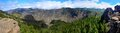 Gran canaria mountains panoramic shot of view from roque nublo peak Stock Photo