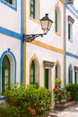 Gran canaria Puerto de Mogan white houses Royalty Free Stock Photo