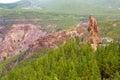 Gran Canaria roque el fraile in Tejeda Royalty Free Stock Photo