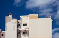 Gran canaria washing line old apartment block Royalty Free Stock Images