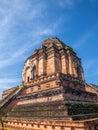 Gran pagoda lanna grand clear sky thailand Stock Photography