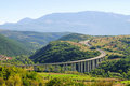 Gran Sasso freeway Royalty Free Stock Image