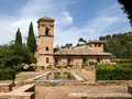 Granada andalucia spain may part of the alhambra palace i in on Royalty Free Stock Image