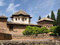 Granada andalucia spain may part of the alhambra palace i in on Royalty Free Stock Photography
