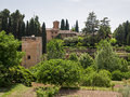 Granada andalucia spain may view from the alhambra palace gardens in on Stock Photos