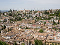 Granada andalucia spain may view of granada in andalucia on Royalty Free Stock Photo