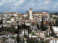 Granada andalusien spain april view from the alhambra to albaicin Royalty Free Stock Photography