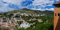 The granada city panorama of from alhambra palace andalucia spain Royalty Free Stock Images