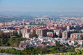 Granada city spain semi aerial view to the settlement Stock Photography