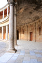 Granada historic building spain april palacio de carlos v in the alhambra which is the most popular monument in spain with nearly Stock Images
