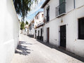 Granada old town buildings white Stock Photography