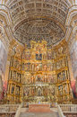 Granada presbytery and mannerist main altar of church monasterio de san jeronimo by pablo de rojas from cent the Stock Images