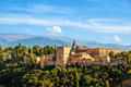 Granada, Spain. Aerial view of Alhambra Palace Royalty Free Stock Photo
