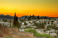 Granada at sunset, Spain Stock Image