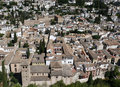 Granada - view from Alhambra palace Royalty Free Stock Photography
