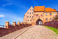 Granaries with water gate in grudziadz poland Royalty Free Stock Photos