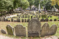 Granary burying ground the famous in boston massachusetts usa that showcase the remains of james otis and paul revere Stock Image