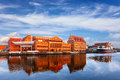 Granary island former and the baltic philharmonic in gdansk poland Royalty Free Stock Photos