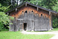 Granary open air museum in salzburg it shows buildings from six centuries here an old wooden barn dated in the th century this Stock Photography
