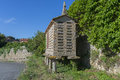 Granary typical in galicia spain Royalty Free Stock Photography
