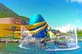 the grand aquarium of ocean park Royalty Free Stock Photo