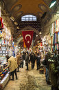 Grand bazaar istanbul february people and shops inside the on february in istanbul turkey Stock Photo