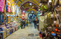 The grand bazaar in istanbul is one of the largest and oldest covered markets in the world with covered streets and over shops Royalty Free Stock Photography