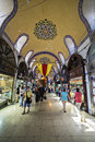 Grand bazaar istanbul turkey may people and tourists visit and shopping in on may is in fatih district of Royalty Free Stock Photography