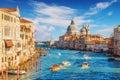 Grand canal and basilica santa maria della salute venice italy Royalty Free Stock Photos