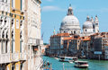 Grand Canal and Basilica Santa Maria della Salute in Venice Royalty Free Stock Photo