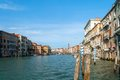 Grand canal famous italian in venice italy it forms one of the major water traffic corridors in the city public transport is Royalty Free Stock Images