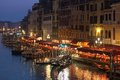 Grand Canal at Night, Venice. Royalty Free Stock Images