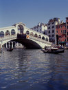 Grand Canal and Rialto Bridge, Venice, Italy Stock Photography