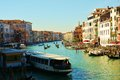 Grand Canal from Rialto bridge, Venice, Italy, Europe Royalty Free Stock Photo
