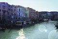 Grand Canal from Rialto bridge in Venice, Italy Royalty Free Stock Photo