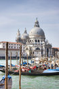 Grand Canal and Santa Maria della Salute Basilica Stock Photo