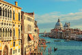 The Grand Canal seen from the Accademia Bridge, Venice Royalty Free Stock Photo