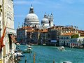 Grand canal venice italy the in is the biggest and the main river in the laguna Royalty Free Stock Photo