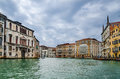 Grand canal venice italy or grande orms one of the major water traffic corridors in the city landmark of laguna Stock Photo