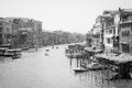 Grand canal venice italy june of venice in black and white on june the view from rialto bridge Stock Images