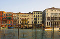 Grand canal venice italy october on october venice italy one of beautiful medieval venetian canals attracting thousands tourists Royalty Free Stock Images