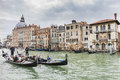 Grand Canal in Venice Italy Royalty Free Stock Photo