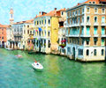 The Grand Canal, Venice; Oil Painting Style Royalty Free Stock Photo