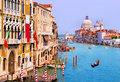 Grand canal venice scenic view from accademia bridge italy Royalty Free Stock Images
