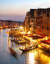 Grand canale venice colorful view in at twilight Stock Images