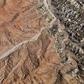 Grand Canyon aerial. Royalty Free Stock Photo