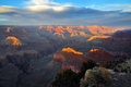Grand canyon arizona at sunset Stock Photography