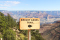 Grand canyon bright angel trail head in the national park arizona united states Stock Photography